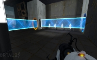 Portal 2 screenshot - Light Bridge