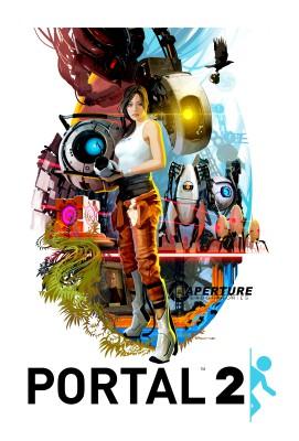 Portal 2 poster - Tristan Reidford